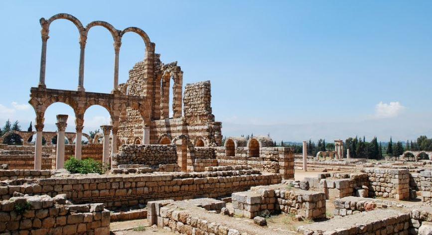 Anjar, Lebanon - ancient ruins.